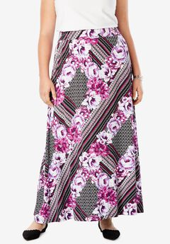 Maxi Skirt in Stretch Jersey,