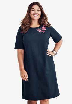 Embellished A-Line Dress,