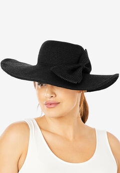 Floppy Hat With Bow, BLACK