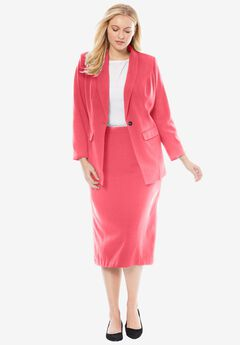2-Piece Single-Breasted Skirt Suit,