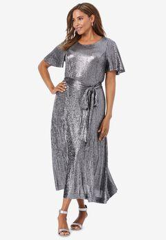 Shimmer Midi Dress,