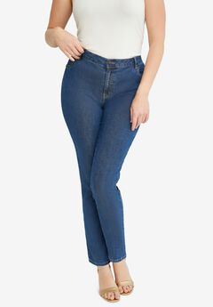 True Fit Straight Leg Jeans, MEDIUM STONEWASH