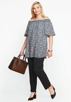 Off the Shoulder Tunic, BLACK SHADOW ANIMAL
