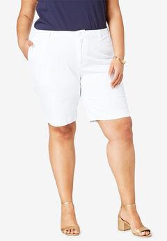 Twill Shorts, WHITE