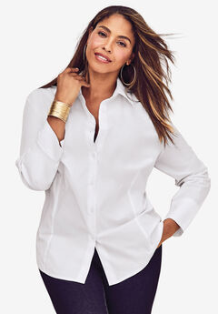 Poplin Shirt, WHITE