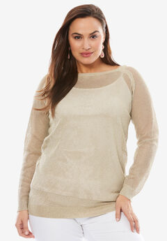 Metallic Pullover,