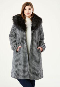 A Line Wool Blend Coat