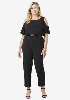 Cold Shoulder Jumpsuit,