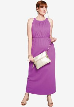 High-Neck Maxi Dress,