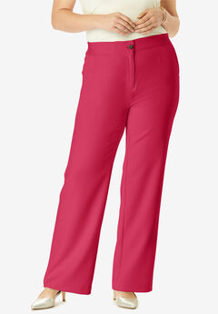 Tummy Control Bi-Stretch Bootcut Pant, CLASSIC RED