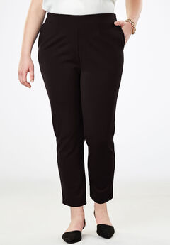 Tapered Ankle Pant, BLACK