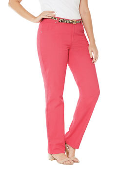 Classic Cotton Denim Straight Jeans,