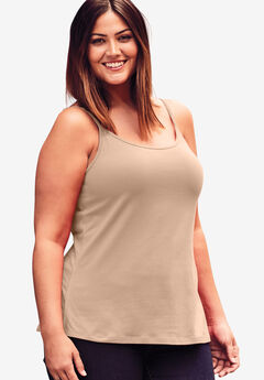 Cami Top with Adjustable Straps, NUDE