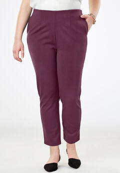 Tapered Ankle Pant, DEEP MERLOT