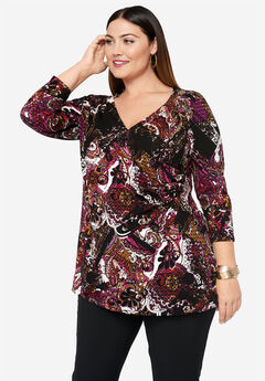 Surplice Tunic, MULTI PAISLEY