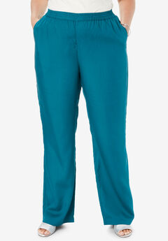 Tencel® Wide-Leg Pant, DEEP TEAL