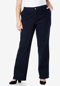 Refined Denim Trouser, INDIGO