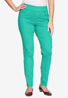 Comfort Waistband Jeans, PRETTY JADE