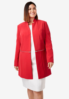Convertible Bi-Stretch Jacket, HOT RED