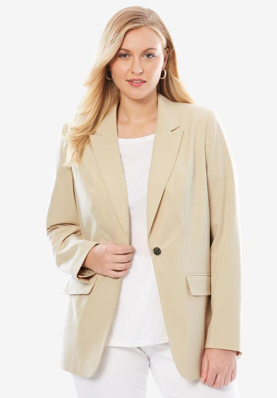 Jessica London Womens Plus Size Bi-Stretch Blazer