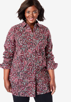 Poplin Tunic, BLACK FLOWER PAISLEY