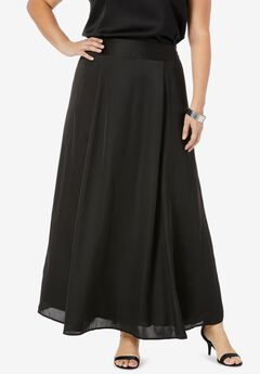 Flowy Maxi Skirt, BLACK