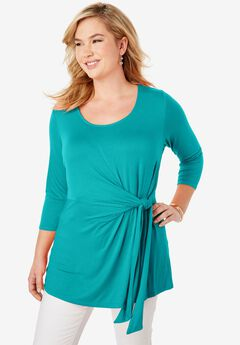Knot Front Tunic, JADE