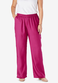 Tencel® Wide-Leg Pant, BRIGHT BERRY