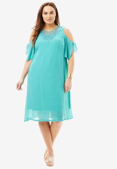 A-Line Applique Dress,