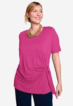 Side-Tie Tee, BRIGHT BERRY