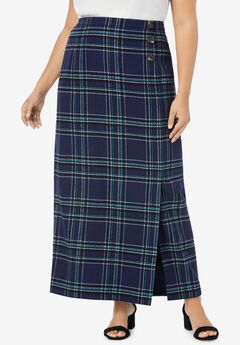 Side-Button Skirt,