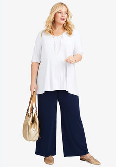 Fit & Flare Tunic, WHITE