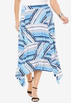 Asymmetrical Midi Skirt,
