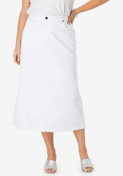 7498e40b316 Classic Cotton Denim Long Skirt