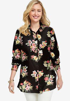 Poplin Tunic, WARM CLASSIC BOUQUET