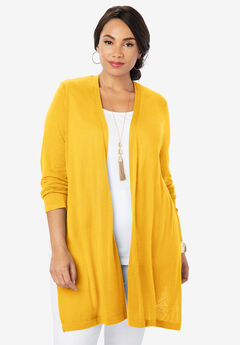 Convertible Cardigan Sweater, SUNSHINE YELLOW