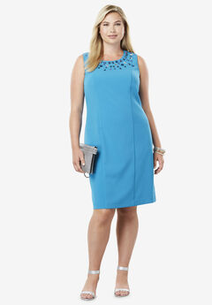 Bi-Stretch Sheath Dress,