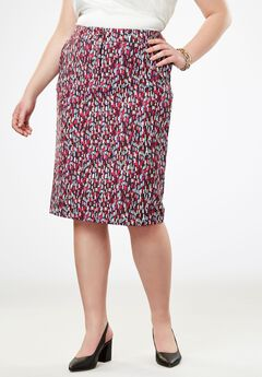 Tummy Control Bi-Stretch Short Skirt,