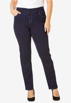 Comfort Waistband Jeans, INDIGO WASH