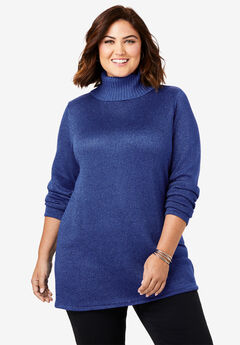 Shimmer Turtleneck, ULTRA BLUE