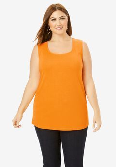 Horseshoe Neck Tank, BRIGHT MELON