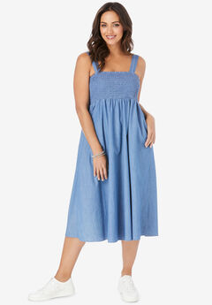 Lite Denim Midi Dress,