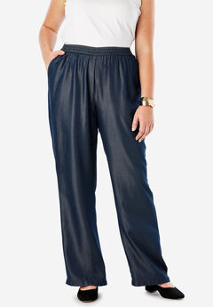 Tencel® Wide-Leg Pant, INDIGO
