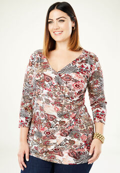 Surplice Tunic, MULTI TAPESTRY FLORAL