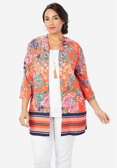 Kimono Jacket, CORAL BLOSSOM