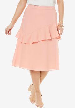 Ruffle Midi Skirt,