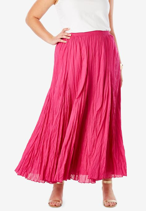 ae287543a03 Cotton Crinkled Maxi Skirt