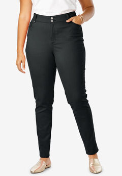 JL Sculpt Denim Skinny Ankle Jean, BLACK