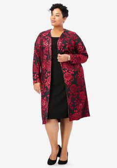 Ponte Jacket Dress, CLASSIC RED ROSE
