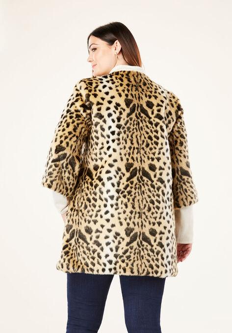 a05b1fb960f8 Faux Fur Leopard Coat by Donna Salyers Fabulous-Furs®| Plus Size ...